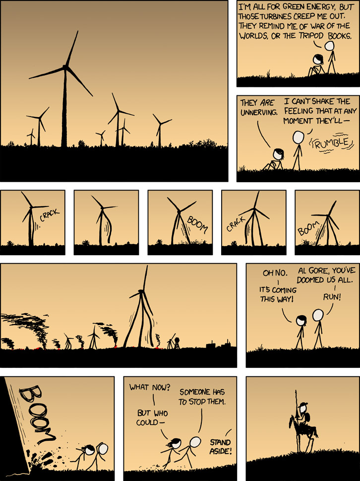 Alternative Energy Revolution | I'm All For Green Energy, But Those Turbines Creep Me Out. | Al Gore [COMIC]