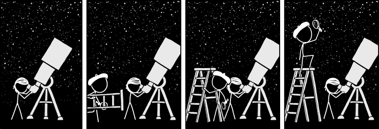 Astrobiology is held back by the fact that we're all too nervous to try to balance on the ladder while holding an expensive microscope.