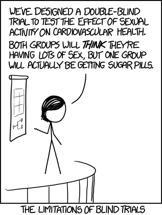 XKCD on blind trials