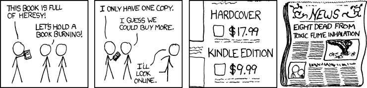 Book Burning xkcd cartoon