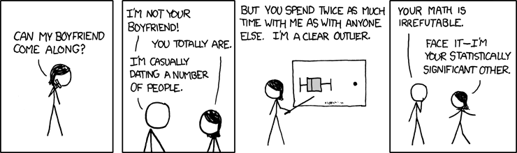 xkcd: Boyfriend as a statistically
