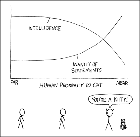 XKCD gets it right here. I devolve into a series of giggling squees mixed with some very interesting names for my fuzzballs.