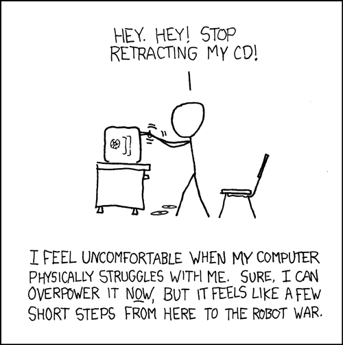 XKCD CD tray fight