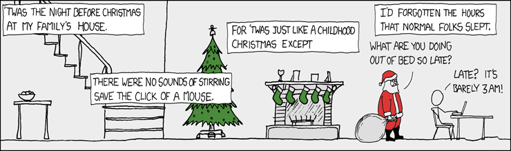 XKCD: Christmas Back Home