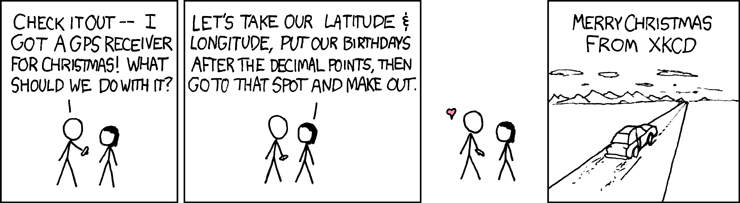 Christmas GPS, from XKCD