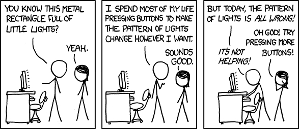 Compiler design dependency comic, originally from http://www.xkcd.com/722/