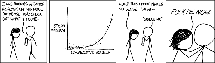 Consecutive Vowels - A Cartoon from XKCd.com