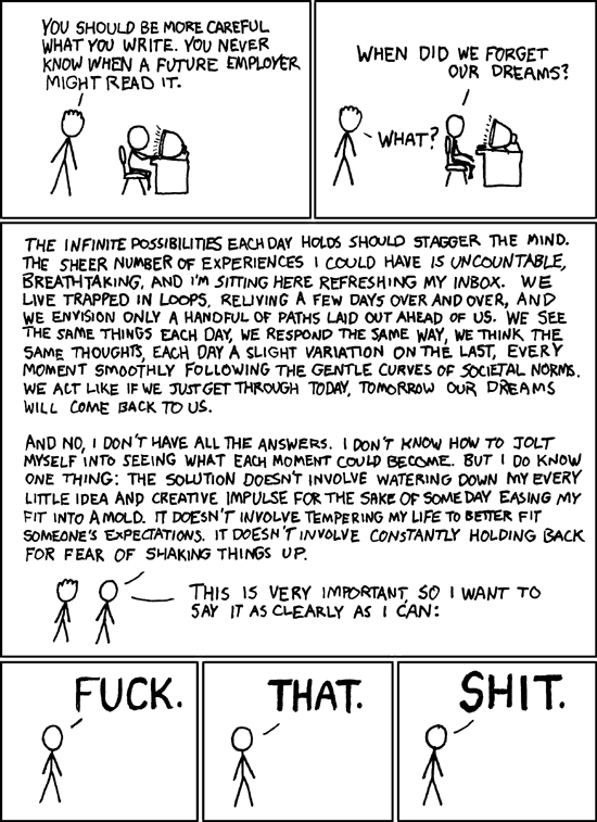 xkcd - Fuck. That. Shit