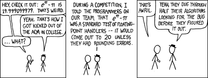 xkcd : e to the pi minus pi
