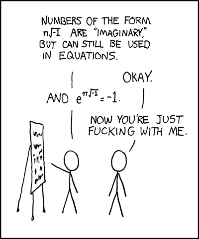 xkcd: e to the pi times i