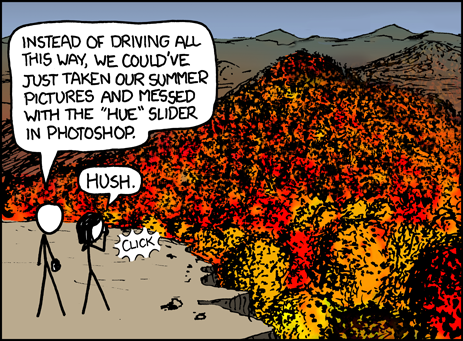 xkcd - A Webcomic - Fall Foliage
