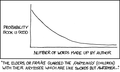 Fiction Rule of Thumb, xkcd.com