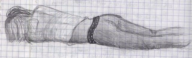 Girl sleeping (Sketch -- 11th grade Spanish class)