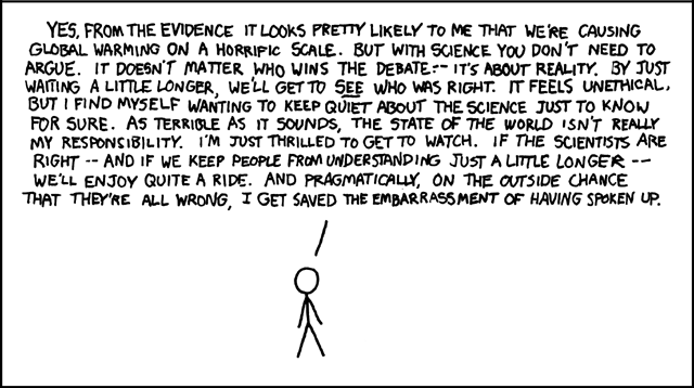 XKCD: Playing Devil's Advocate