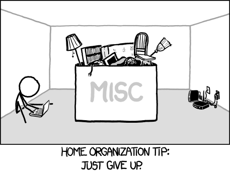 HOME ORGANIZATION TIP: JUST GIVE UP