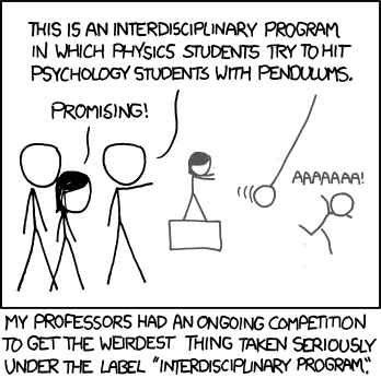 xkcd comic about academic interdisciplinary studites