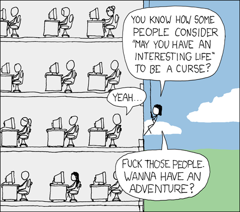 XKCD Interesting Times Comic