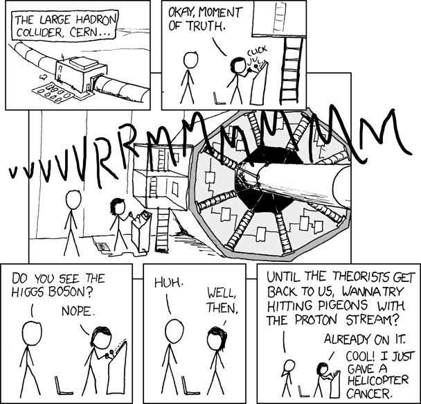 Large hadron collider comic from xkcd