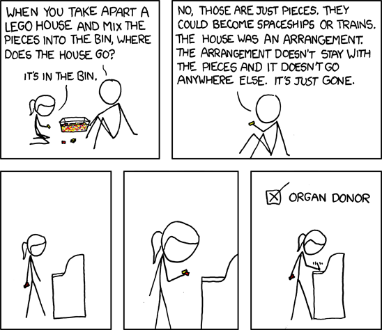 XKCD: Lego teaches you why you should get on the organ donor registry