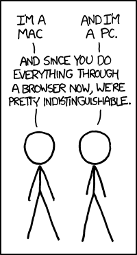 Mac vs PC vs Browser (xkcd.com)