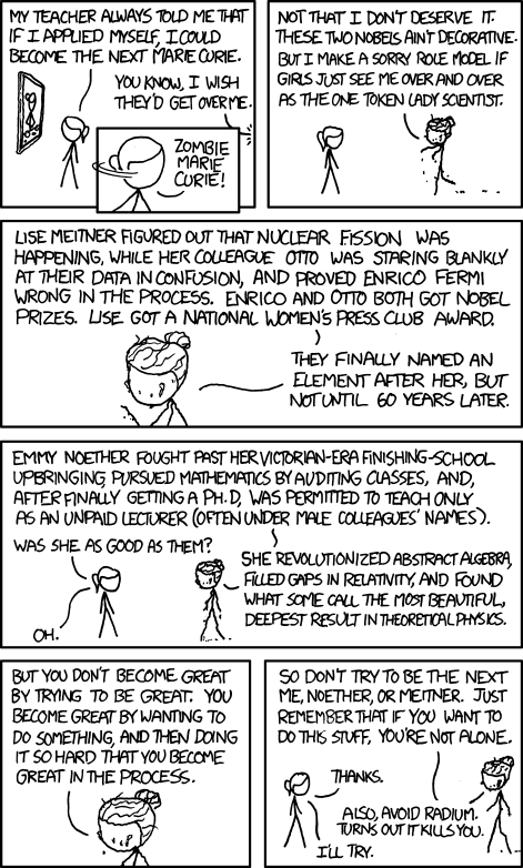 Marie Curie Sage on XKCD WebComic