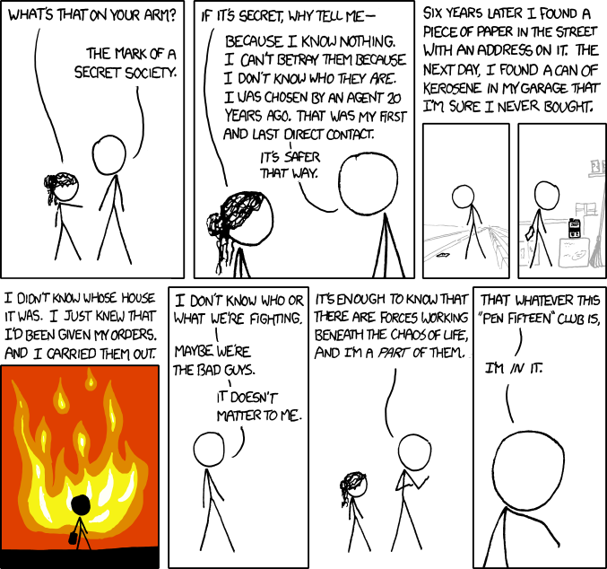 xkcd: Mike in the secret PEN FIFTEEN club :)