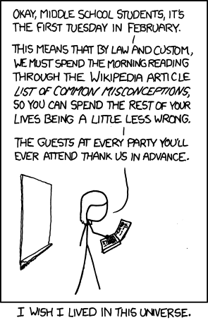 XKCD on Misconceptions