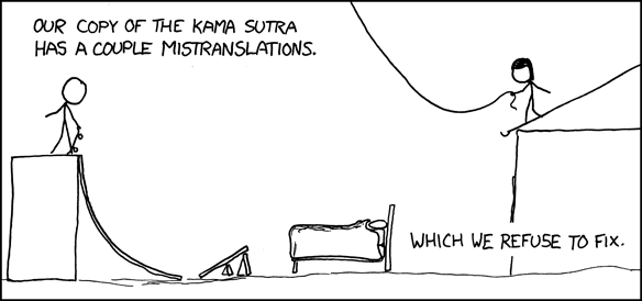 XKCD - Kama Sutra Mistranslation