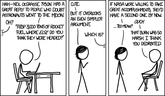 XKCD debunking of Moon landing hoax claims