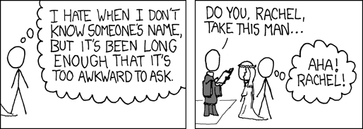 forgetting names - XKCD
