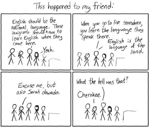 XKCD cherokee national language comic