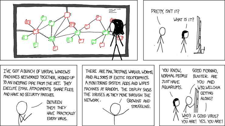 XKCD network cartoon