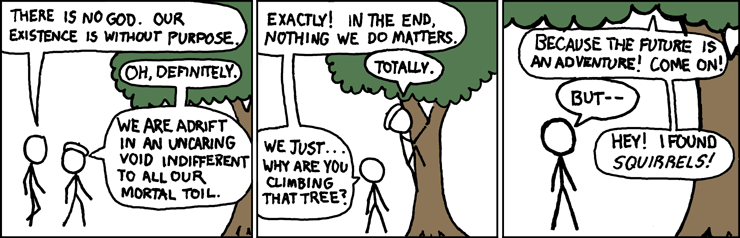 XKCD strip on nihilism