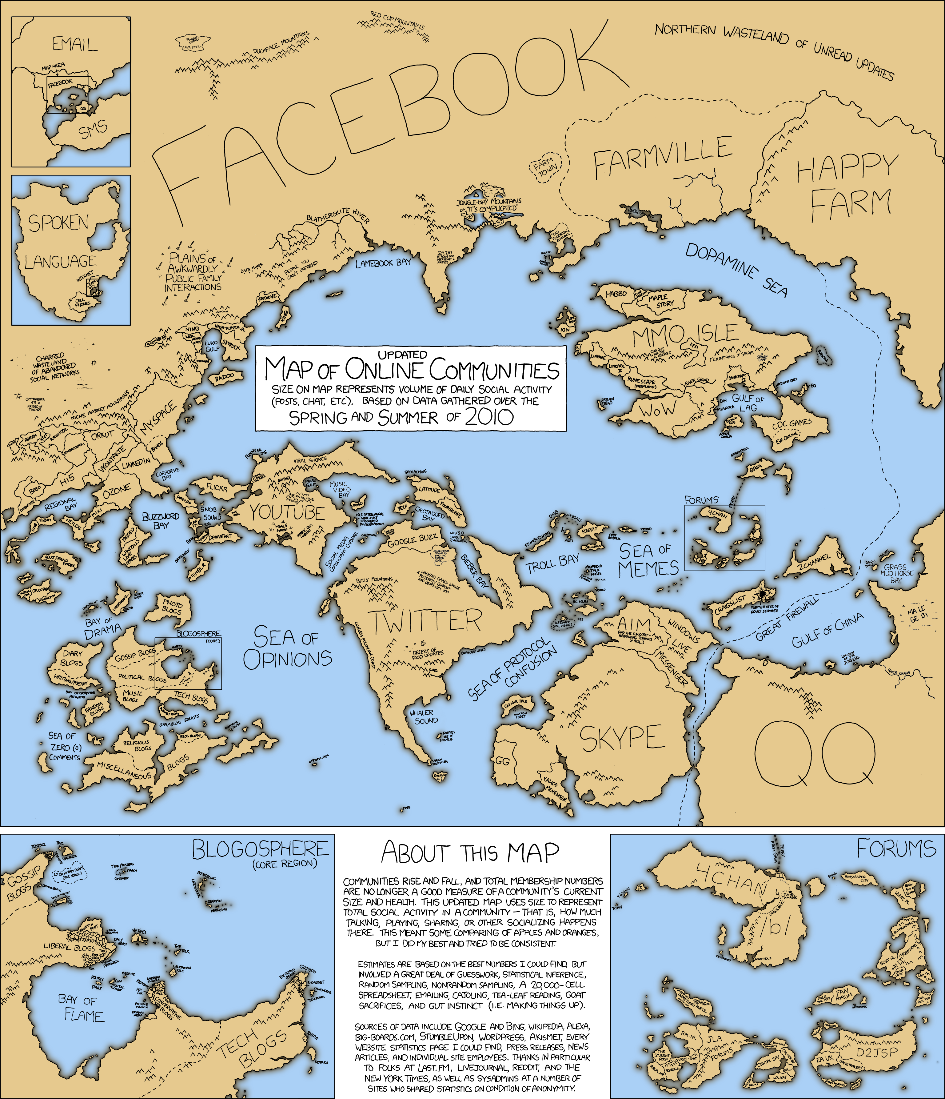 XKCD Map of the social system