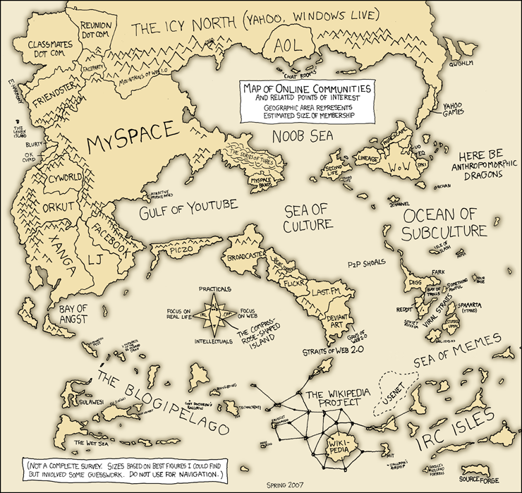 Online Communities Map - XKCD »