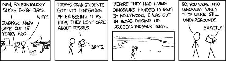 xkcd on paleontology