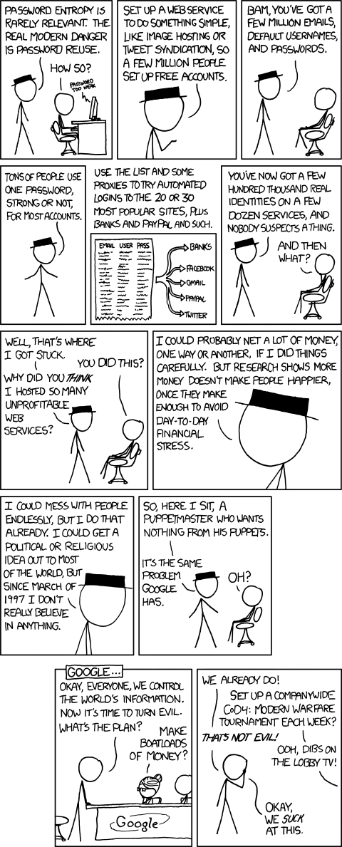 xkcd - Password Reuse