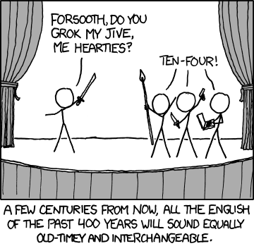 XKCD comic about period speech