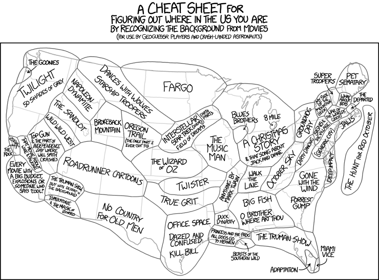 xkcd: Scenery Cheat Sheet