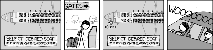 XKCD Cartoon - Seat Selection