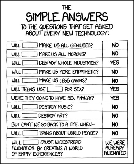 Simple answers - xkcd