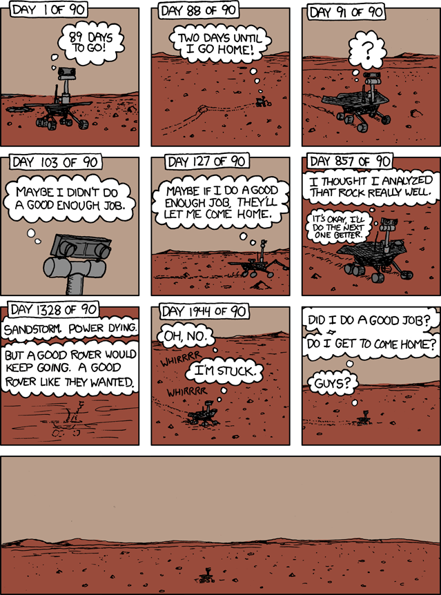 Comic that makes me really sad about the Spirit Mars rover