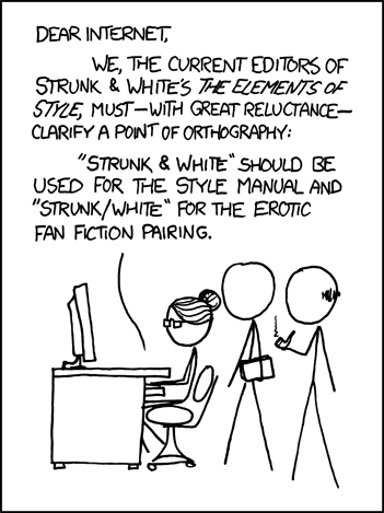 XKCD's Elements of Style