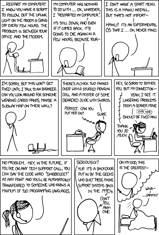 Shibboleet - XKCD Cartoon