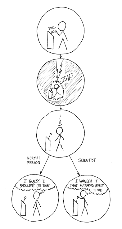 Cartoon - The difference between scientist and normal person