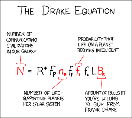 XKCD - the Drake Equation