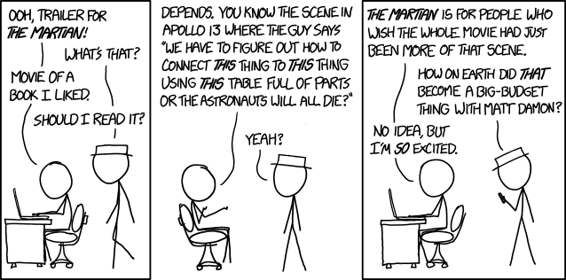 XKCD looks at 'The Martian'