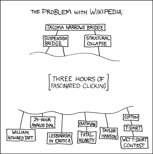 xkcd: The Problem with Wikipedia