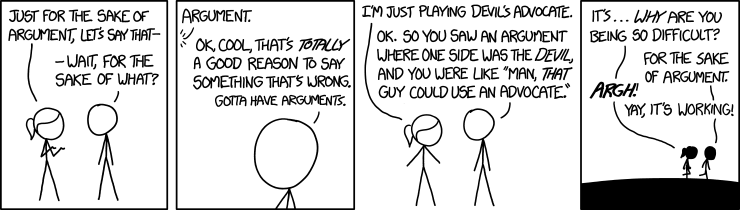 xkcd: The Sake of Argument
