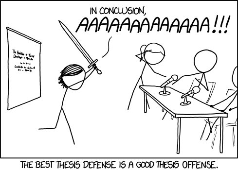 Thesis defence or defense